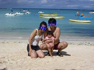 グアムで家族写真