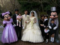 春ちゃんも結婚写真に参加