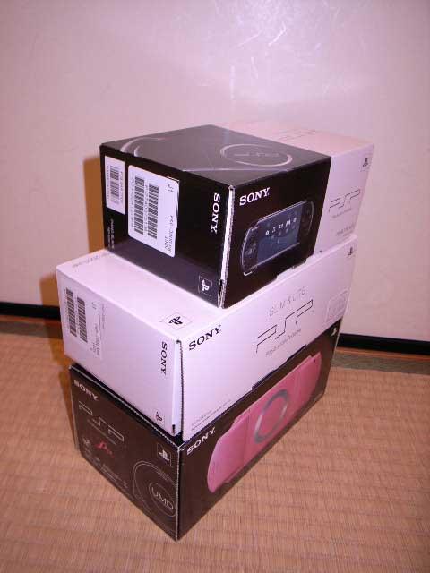 歴代PSPとの箱比較2