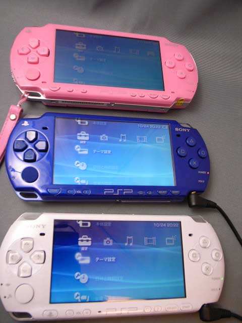 PSP-3000/18PSP3世代並べてみました