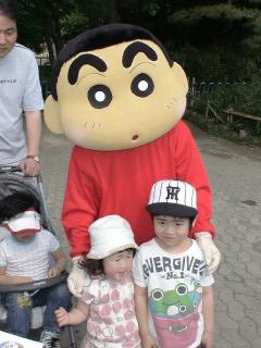 ソウル大公園-クレヨンしんちゃんのショーにて