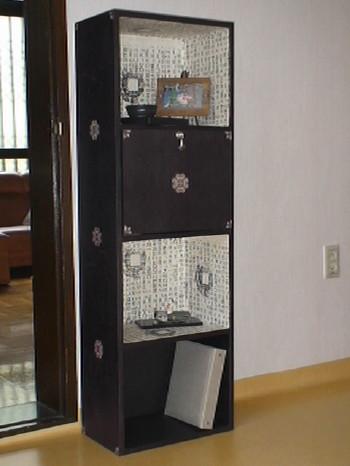 韓紙工芸カラーボックス1