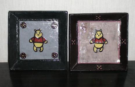 韓紙工芸-プ-さんの角皿