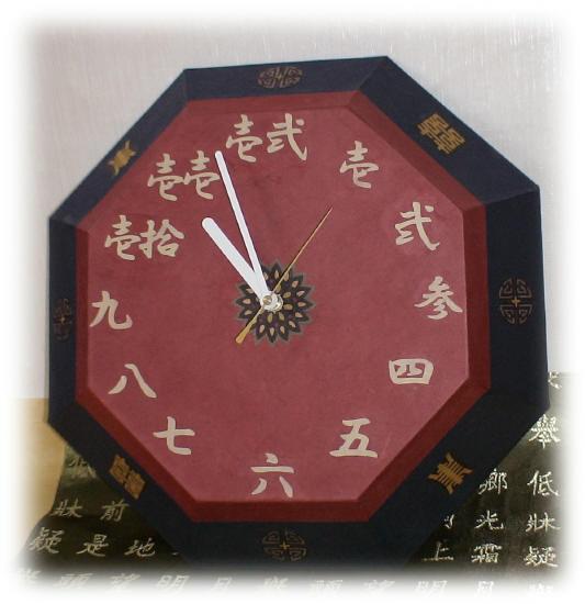 チャイナ風壁掛け時計1
