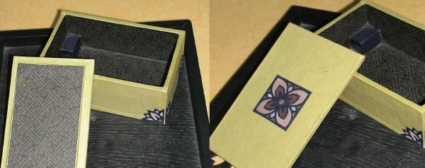 お花の名刺ケース(グリーン)2