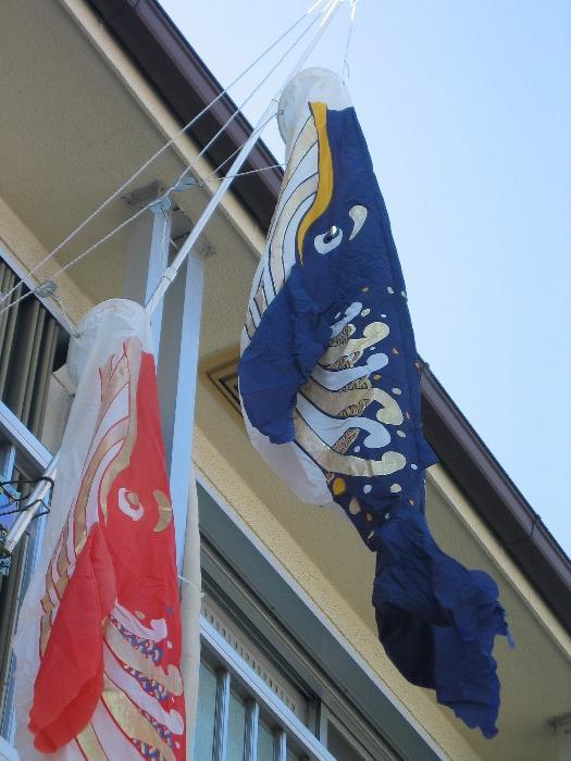 地区ラリー、鯨のぼり、ログハウス 039.jpg