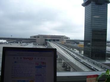 成田第2ターミナルのヤフーのインターネットコーナー