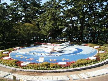 土肥の花時計は日本一の大きさ?