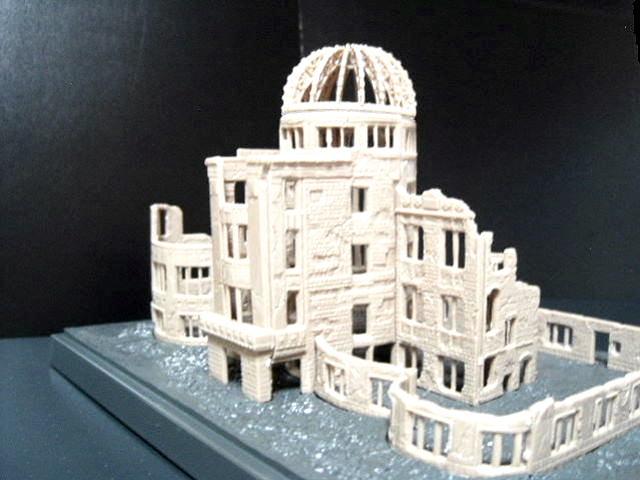 原爆ドーム~広島平和資料館で販売しているプラモデルです。