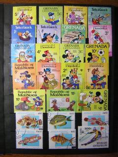 ディズニーの切手