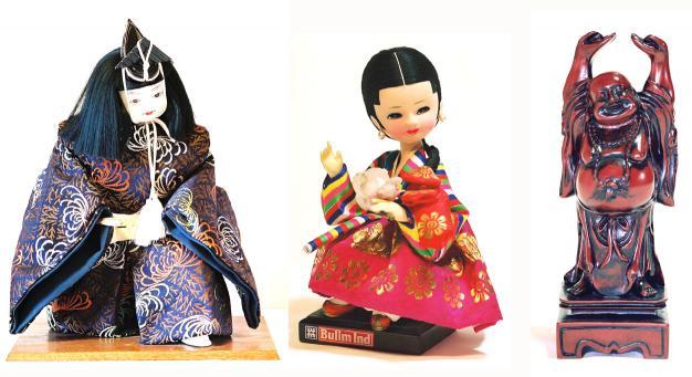日本韓国中国人形3種