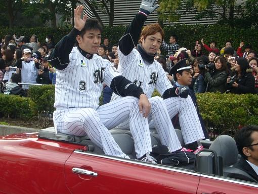 千葉ロッテマリーンズの優勝パレード2010