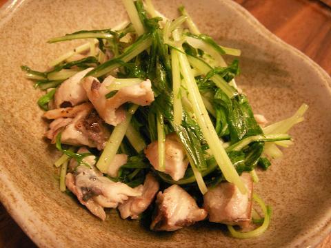 ~『鯖と水菜の炒め物』~