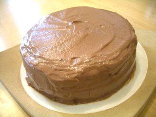 チョコレートケーキ(万能チョコスポンジ+豆腐ガナッシュクリーム)