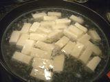 切った豆腐を2~3分ゆでる