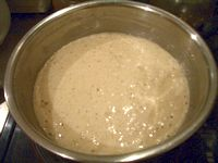 ドライイーストで作るパンケーキの生地(醗酵後)