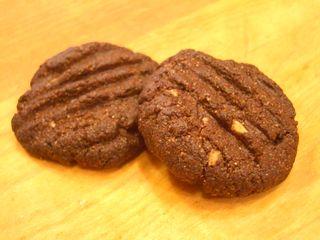 全粒粉100%のココアクッキー1
