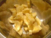 簡単バナナマフィン(残ったバナナは半月切り)