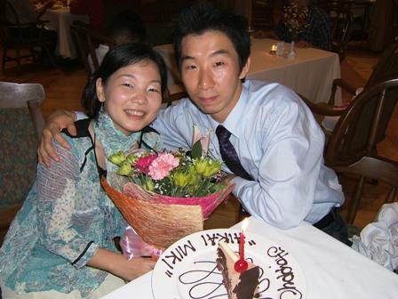 花束とケーキ