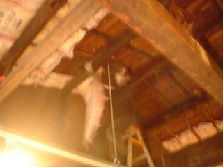 天井の作業