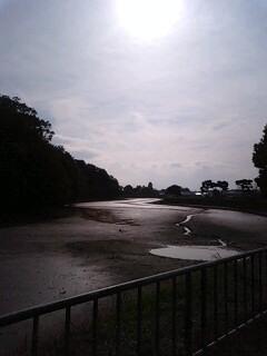 冬の垂仁天皇陵 堀の水がない
