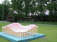 中札内美術村*座ってみたい北の創作椅子_花の絨毯.JPG
