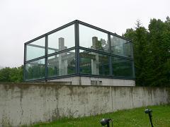 水の教会*ガラス張りの十字架.JPG