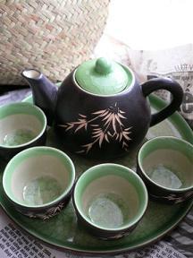 ハンザ市場で買った蓮茶セット.JPG