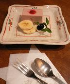 嵯峨沢館*朝食後のデザート.JPG