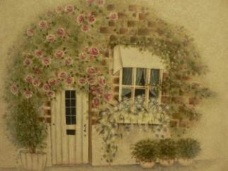 トールペイント つるバラの家