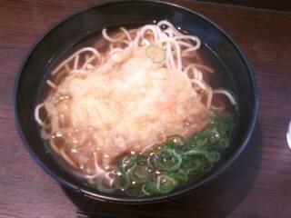 えきそば@JR姫路駅の天ぷらえきそば1