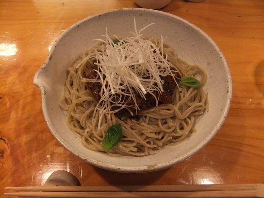 蕎楽亭@神楽坂のトマトそば1