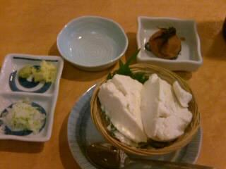 弁天@浅草の梅干と湯葉豆腐