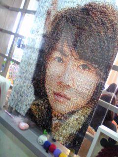 プリクラで作られた顔写真