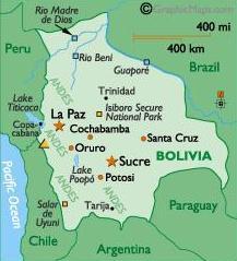 ボリビア地図 2