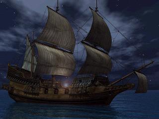 小型帆船 夜
