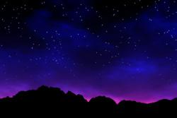 山の端の夕暮れ