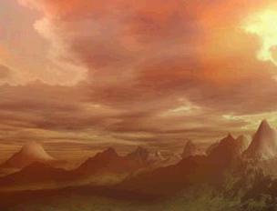夕暮れの霊峰