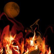 月と焔火 紅・1