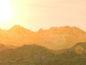 朱色の山脈