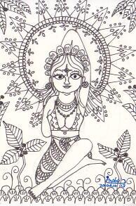インド画風☆ゴムカーサナ