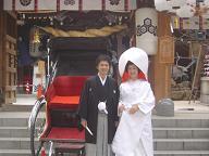 櫛田神社婚礼20061216