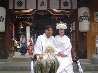 櫛田神社婚礼20061119