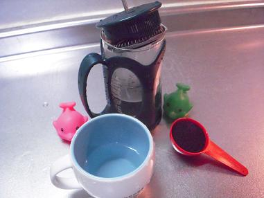 コーヒープレス&カップ