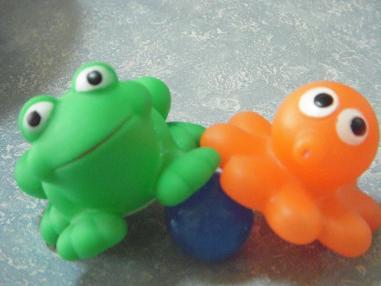 カエルとタコさん