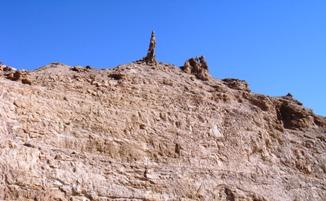 ロトの妻の塩の柱