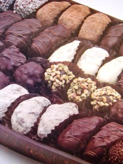 ナツメヤシ入りのチョコレート