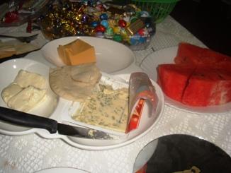 スイカとチーズ