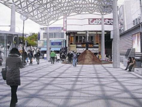 行基広場の「屋根」当初プラン