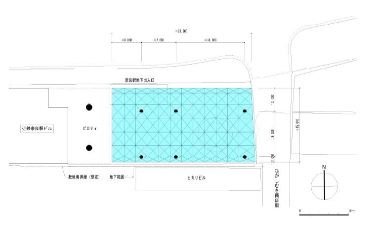 行基広場覆い屋根の平面図